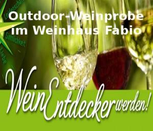 Weinentdecker werden mit Outdoor-Weinprobe