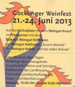 Weinfest in Göcklingen