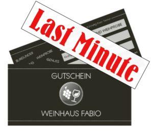 Last Minute Gutscheine Weinwandeung